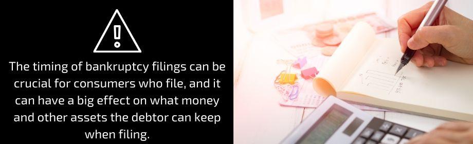 spending cash before filing chapter 7